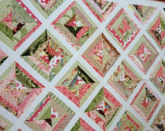 Large Lap Quilt-Free Shipping  ----SALE