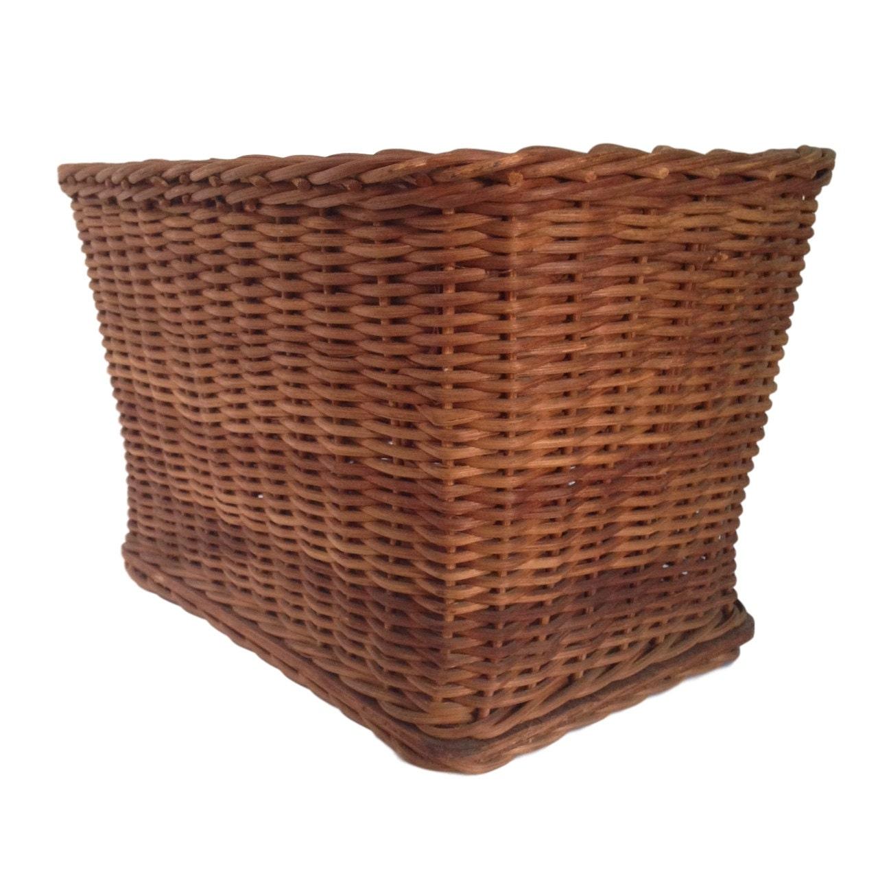 Basket Home Decor: Vintage Bicycle Basket Wicker Basket For Bike Or Home Decor