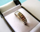 Men's Navajo 14kt Gold and Sterling Silver Ring Size 10