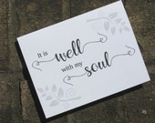 It Is Well With My Soul Note Cards - Religious Stationery - Christian Hymn Note Cards