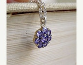 27% Off Sale Tanzanite Purple Cubic Zirconia Sterling Silver Necklace EN1