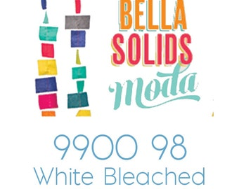 Bella Solids White Bleached 9900 98 Moda fabric 1/2 yard