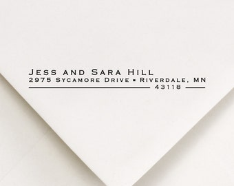 Gifts For The Couple, Return Address Stamp, Address Stamp, Wedding Stamp, Self Inking Stamp, Housewarming Gift,  Jess and Sara