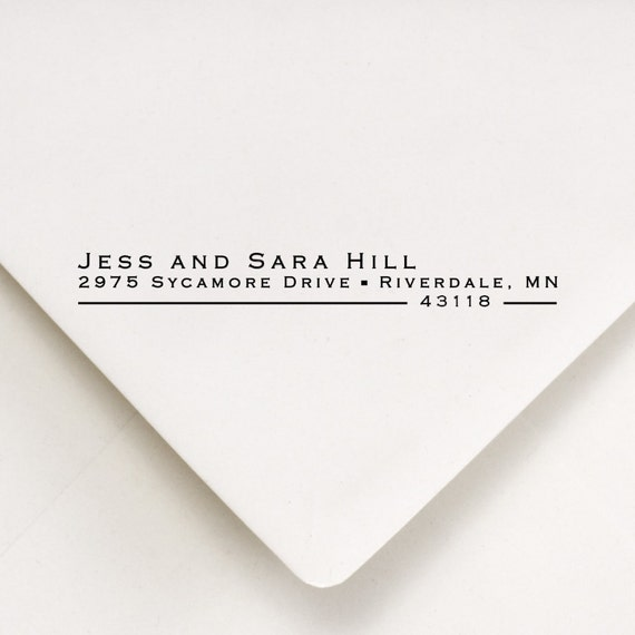 Return Address Stamp, Custom Address Stamp, Address Stamp, Wedding Stamp, Self Inking Stamp, Housewarming Gift,  Jess and Sara