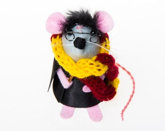 Harry Potter ornament felt mouse artisan rat hamster mice cute gift for Harry Potter fan animal lover or collector