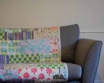 Contemporary patchwork sofa throw - mix match