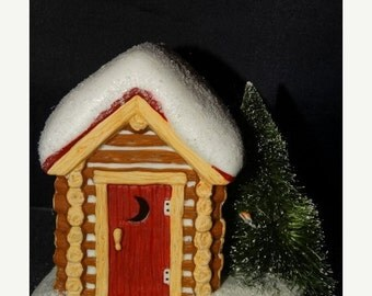 Sale Dept. 56 Village Outhouse Miniature, Pine Isles, Simple Traditions, Folk Art, Country