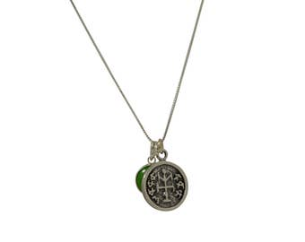 Winner Solomon Seal & Evil Eye Charm Necklace