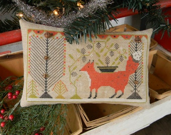 Winter Fox cross stitch PAPER PATTERN - from Notforgotten Farm