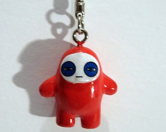 Ninja keychain toys charm accessories mini red Glum Ninja Bodyguards