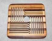 Wood Trivet - Walnut and Maple