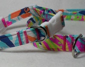 Handcrafted Lilly Pulitzer Besame Mucho Print Fabric Dog Collar- All Sizes- Free Shipping