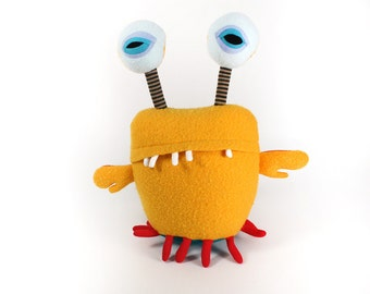 """Stuffed Monster """"Breeze Space Crab"""" Cotton Monster Recycled Plush"""