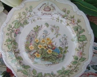 "VINTAGE - Royal Doulton's Brambly Hedge Plate - ""Spring"""