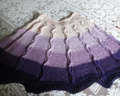 Cascading Purples Hand-knit Poncho