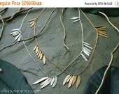 Valentines Day Sale Gold Multi-Leaf Necklace | Gold Necklace