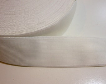 White Elastic Band 2 1/8 inches wide x 3 yards, Wide Elastic