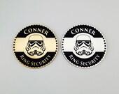 Ring Security, Ring Bearer Gift, Ring Bearer Security Badge, Personalized Ring Bearer Badge, Storm Trooper, Wedding Gift, Trooper Design