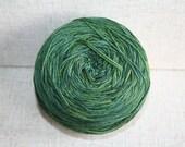 SALE! - Designer Sock Yarn Destash - 437yd - Cascade Yarns Heritage Silk Paints - 9789 Green