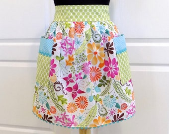 Womens Half Apron Retro Chic Cute Kitchen Waist Aprons