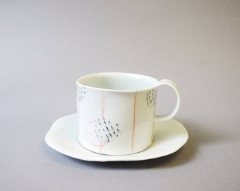porcelain espresso cup with translucent bottom