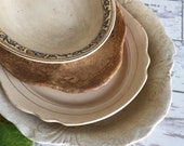 Antique Ironstone Serving Platter - Distressed and Stained - RESERVED