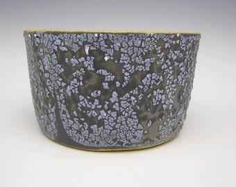 Contemporary succulent planter Ceramic modern stoneware cactus planter bonsai planter herb pot Black White 6 x 3 3/8   e8