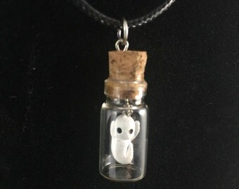 My Pet Ghost Bottle Charm Necklace