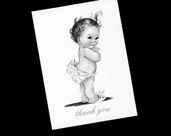 Baby Shower Thank You Cards - Baby Cards - Baby Thank You Cards - Baby Girl - Blank Note Cards - Blank Cards - Set of 20