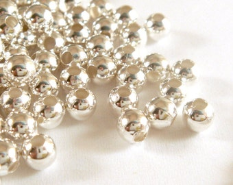 225 Silver Spacer Beads 3mm Round Iron Bead - 225 pc - M7013-S225
