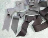 Rayon Grosgrain Ribbon Gray For Millinery, Bridal, Hat Making, Dress Making