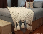 CROCHET PATTERN - Cozy Cottage Throw - Instant Download (PDF)