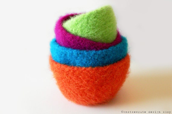 CROCHET PATTERN - Felted Nesting Bowls - Instant Download (PDF)