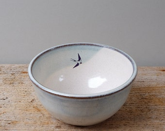Blue Swallows Cereal Bowl