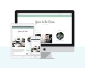 Responsive Blogger Template | Premade Blogger Template | Blog Design Grace and the Ocean