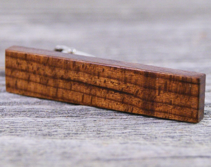 Mens Tie Bar Crafted from Roasted American Maple