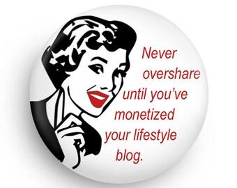 Funny Blogger Fridge Magnet, Great Stocking Stuffer or Gag Gift