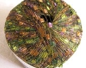 Ladder Ribbon Glitter yarn, AMAZON,  shades of green peach brown rust, 73
