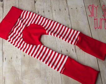 Maxaloones, Red Stripe cloth diaper pants, grow with me pants