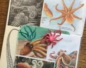 RESERVED for Elisa Octopus in the Deep Blue Sea Vintage Ocean Collage, Scrapbook and Planner Kit Number 2017