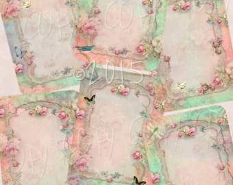 Instant Download  - Shabby No 95 - ACEO - Digital Download - Printable  Digital Collage Sheet