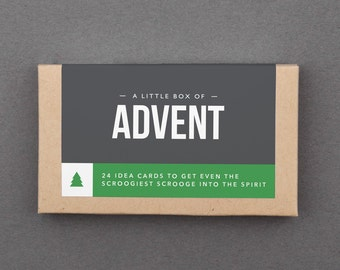 "Advent Calendar Activities, Ideas. Stocking Stuffer, Gag, Novelty, White Elephant Gift. Budget, Affordable, Cheap. ""Box of Advent"" (L2A01)"