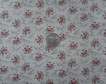 Windham Wisconsin Floral Beige Brown Red - Cotton Quilting Fabric - 1 Yard