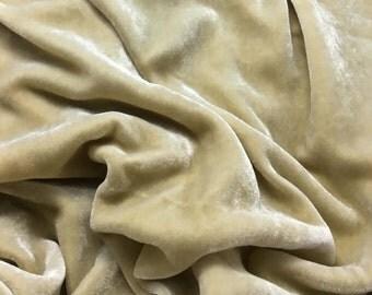 ECRU - Hand Dyed Burnout Silk Velvet 1 Yard