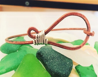 Copper switchback bangle