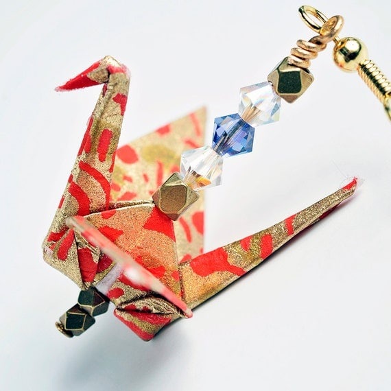 Red Origami Earrings for SaleOrigami Paper by ... - photo#32