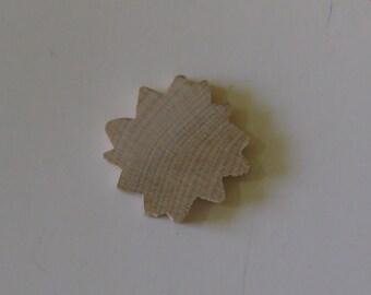 15-1 1/4 inch Unfinished Wood Sunflower/Sunshine Shapes Craft Supply