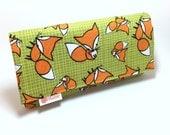 Fox wallet. Women's wallet. Card wallets for women. World's Greatest Wallet.  Zippered wallet.