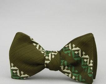 army green mod bow tie
