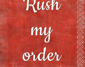 Rush Order - Move to front of the line & Priority ship (US only)